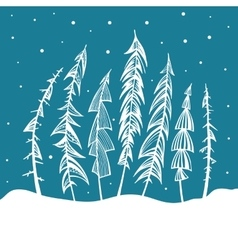 Christmas Tree Holidays vector image
