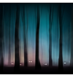 Monsters in forest vector image vector image