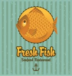 retro fish vector image vector image