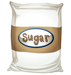 A packet of sugar vector image