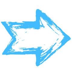 arrow symbol watercolour brushstroke vector image vector image