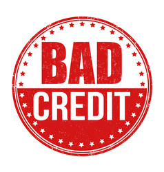 Bad credit stamp vector