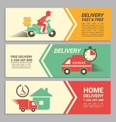 banners design template for fast delivery vector image