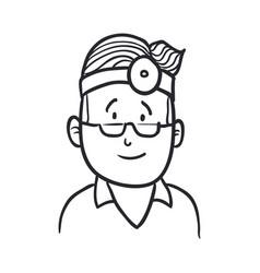 doctor draw cartoon vector image