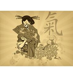 japanese t-shirt design vector image