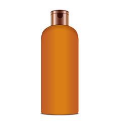 sunscreen blank plastic pack bottle vector image