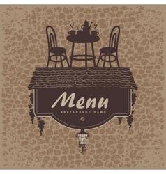 menu furniture vector image