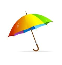 Rainbow umbrella isolated vector