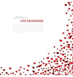 Romantic red background vector image vector image