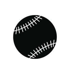 Baseball black simple icon vector image vector image