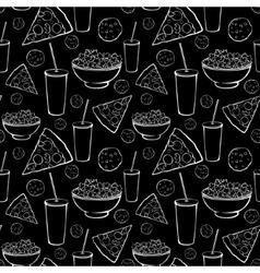 Black white sleepover movie night party vector
