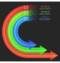 Infographics design template Circular arrows vector image