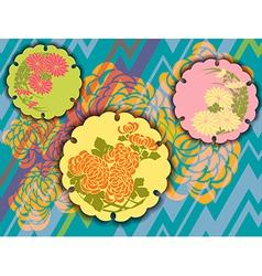 original design using vintage Japanese elements vector image vector image