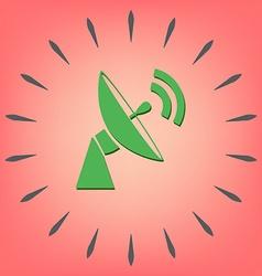 satellite dish icon radar sign antenna symbol vector image