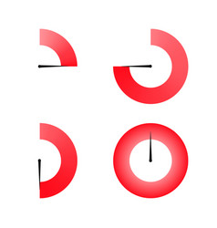 set of red colored timers vector image vector image