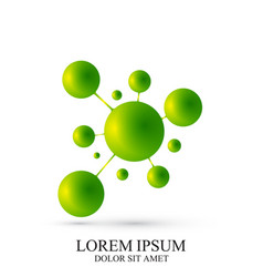 3d green logotype icon dna molecule vector