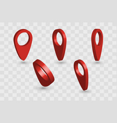 3d pointer red vector image