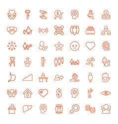 49 human icons vector