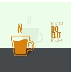 Abstract background with a cup of coffee vector image