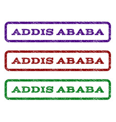 Addis ababa watermark stamp vector