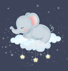 Adorable elephant vector