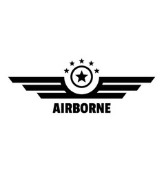 airborne logo simple style vector image