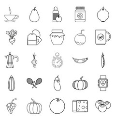Allowance icons set outline style vector