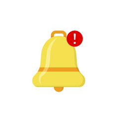 Bell notification in flat on white background vector