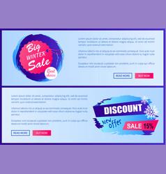 big winter sale best choice vector image