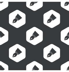 Black hexagon pen nib pattern vector