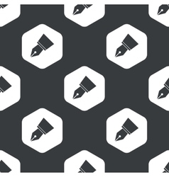 Black hexagon pen nib pattern vector image
