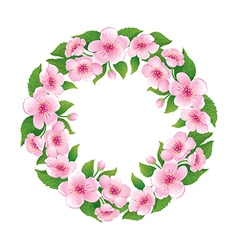Blooming wreath vector image