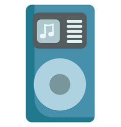Blue ipod music player or color vector