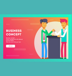 business concept the competition vector image