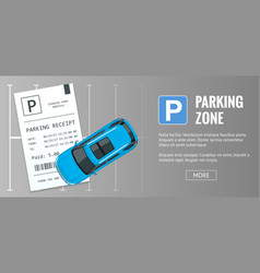 Cars in the parking lot and parking tickets vector