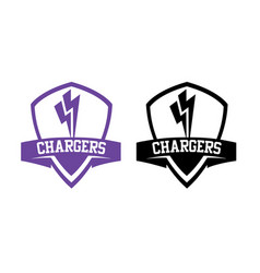 chargers-logos vector image