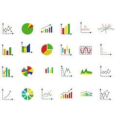 Charts icons set vector