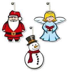 Christmas hangtags vector