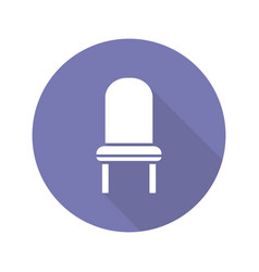 classic chair flat design long shadow glyph icon vector image