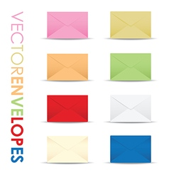 coloured envelope set vector image