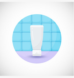 Cosmetics tube product flat icon vector