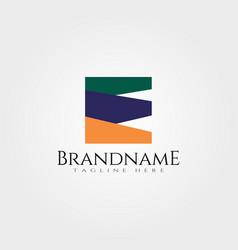 Creative logo design with initial e vector