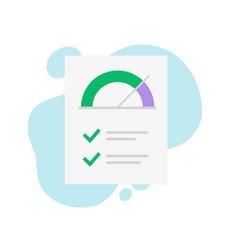 credit score rank report check paper document vector image