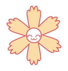 cute cartoon happy flower kawaii adorable vector image