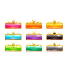 decorative colorful long buttons set vector image