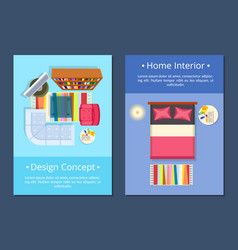 design concept home interior vector image