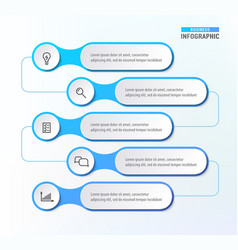 five steps workflow infograph chart diagram vector image