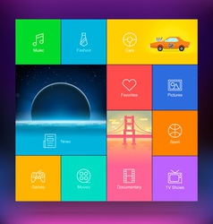 Flat Design User Interface Template vector