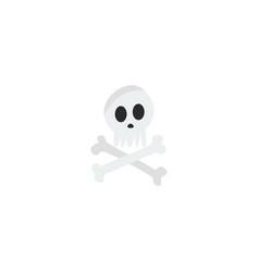 Flat icon skeleton element of vector