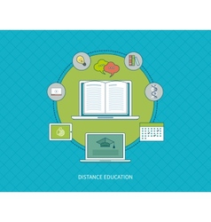 Flat stylish design for professional training vector image